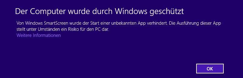 Smartscreen Object code Zertifikate